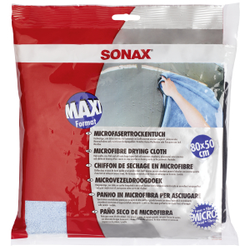 SONAX MicrofaserTrockenTuch, 80x50cm, Hochwertiges, sehr dickes und weiches Trockentuch, 1 Mikrofasertuch