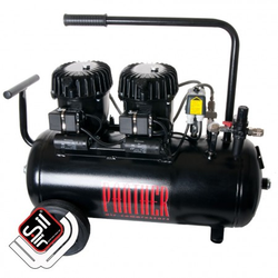 Black Panther P100-50 Kompressor Flüster-Leise mit nur 42 dB(A)/lm, Silair, Silent Kompressor