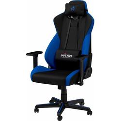 NITRO CONCEPTS Gaming-Stuhl S300 Gaming Chair, Bürostuhlzertifizierung DIN EN 1335 blau