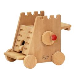 ERST-HOLZ Spielwelt 931-1101, Kleiner Belagerungsturm Rammbock für Drewart Ritterburg Burg nachhaltiges Holzspielzeug 931-1101