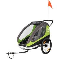 Hamax Traveller Fahrradanhänger inkl. Fahrraddeichsel und Buggyrad green/grey 2021