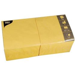 Servietten 33x33cm 3-lagig 1/4-Falz VE=250 Stück gelb