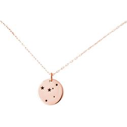 Gemshine Kette mit Anhänger Horoskop Sternzeichen Cancer Krebs, Made in Spain rosa