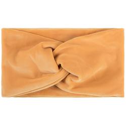 styleBREAKER Stirnband Samt Stirnband mit Twist Knoten Samt Stirnband mit Twist Knoten orange