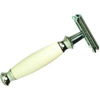 Golddachs Rasierhobel, für Doppelklingen, weiß, silber (Artikel-Nr.: 348609)