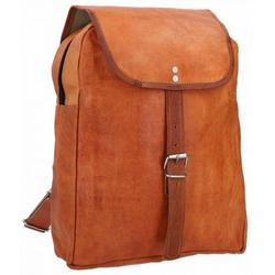Gusti Leder Cityrucksack Evind, Rucksack Cityrucksack Lederrucksack Daypack Tasche klein Vintage Braun Leder