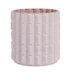 Nordal Opal Vase Edgy 16 cm - Rosa