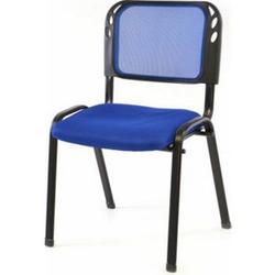 VCM Besucherstuhl Bürostuhl Konferenzstuhl Sitzfläche blau gepolstert stapelbar