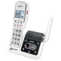 Geemarc 595 U.L.E Schnurloses Telefon analog Anrufbeantworter, Wahlwiederholung, Freisprechen Beleuc