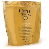 Fanola Oro Therapy De-Color Keratin Blondierpulver blau 500 g