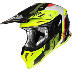 Just1 J39 Reactor Motorcross helm, zwart-rood-geel, XS