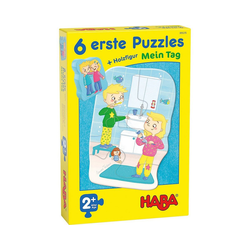 Haba Steckpuzzle 6 erste Puzzles - Mein Tag, Puzzleteile