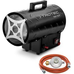 TROTEC Gasheizgebläse TGH 16 E Gas Heizgerät inkl Verbindungschlauch und Druckminderer Heizleistung bis 15 kW, 320 m3/h Luftdurchsatz, für handelsübliche Gasflaschen, Piezozündung
