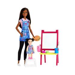Mattel® Anziehpuppe Barbie Kunstlehrerin Puppe (brünett) und Spielset