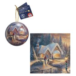 Schmidt Spiele Puzzle Schmidt 59637 - Thomas Kinkade - Puzzle & Weihnach, 100 Puzzleteile