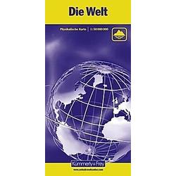 Die Welt  Physikalische Karte  1 : 50 Mio. - Buch