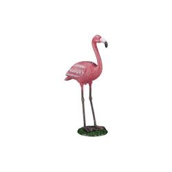 relaxdays Dekofigur Dekofigur Flamingo Gusseisen 17.5 cm x 57 cm x 35 cm