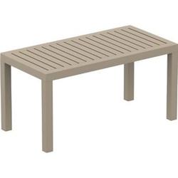 Lounge Tisch OCEAN I Wetterfester Gartentisch aus UV-beständigem Kunststoff I wetterfest und UV-beständig I robuster Gartentisch... taupe