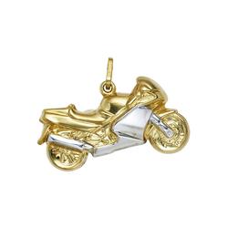JOBO Kettenanhänger Motorrad, 333 Gold bicolor