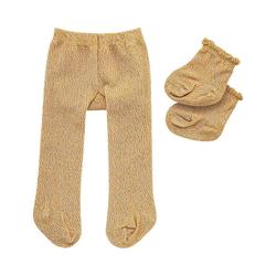 Heless Puppenkleidung Puppen-Strumpfhose mit Söckchen gold, Gr. 35-45 cm