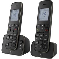Telekom Sinus A 207 Schnurloses Telefon analog Anrufbeantworter Schwarz