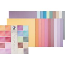 URSUS Papierkarton Scrapbook-Block Struktura Pearl 2, 30,5x30,5 cm, 20 Blatt