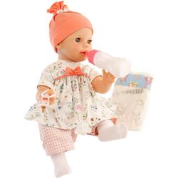 Schildkröt Manufaktur Babypuppe Trink- und Nässpuppe Lina, rosé/weiß, Made in Germany