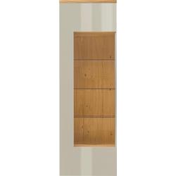now! by hülsta Vitrine now! time mit Glasausschnitt, Höhe 216,3 cm grau