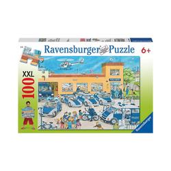 Ravensburger Puzzle Puzzle, 100 Teile XXL, 49x36 cm, Polizeirevier, Puzzleteile