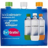 Sodastream PET-Flasche 3 x 1 l grün/weiß/orange