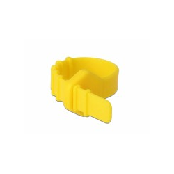 Delock Silikon-Kabelbind. wiederv.10x ye 0,12 m Gummi/Silikon (18830)