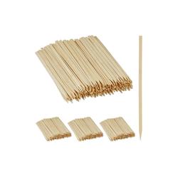 relaxdays Schaschlikspieße 1000 x Schaschlikspieße Bambus