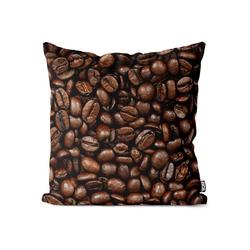 Kissenbezug, VOID (1 Stück), Kaffeebohnen Kaffee Kissenbezug Kaffee Cafe Bohnen Maschine Kaffeemaschine 80 cm x 80 cm