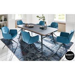 Mobitec Stuhlgruppe Mood in stahlblau/schwarz