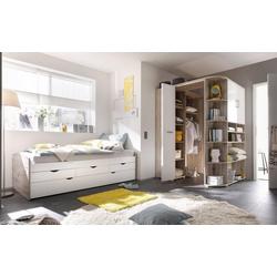 Eckkleiderschrank Corner begehbar weiß