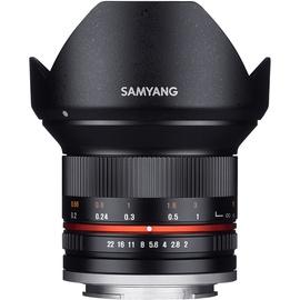 Samyang 12 mm F2,0 NCS CS Fuji X schwarz