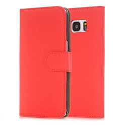 Flip Cover für Galaxy S6 Edge - Rosenrot