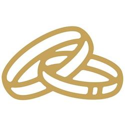 Rayher Klebemotive Ringe gold 33 St.