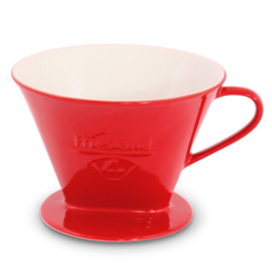 Friesland Porzellan Kaffeebereiter Friesland Kaffeefilter Gr. 4 Rot Porzellan