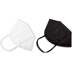 PAIDE P FFP2-Masken, CE-Zertifiziert, atmungsaktiv, 5 Schichten, Erwachsene. 5 Schwarze Einheiten 5 weiße Einheiten (c3-10)