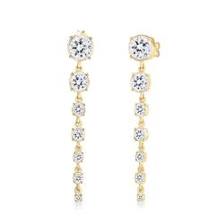 Elli Premium Paar Ohrhänger Ohrhänger Kristalle 925 Silber, Kristall Ohrhänger weiß