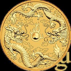 1 Unze Goldmünze Australien Drache & Drache 2020