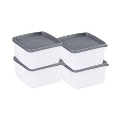 my basic Frischhaltedose 4er-Set Frischhaltedosen, -40°C bis +90°, 0,5 L
