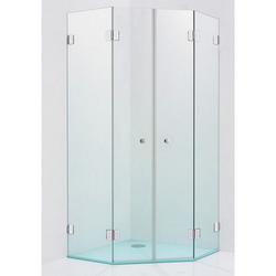 Sprinz XXL Fünfeck-Duschkabine mit 2 Schwingtüren und 2 Festteilen