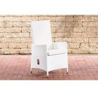 Clp Sevilla Gartenstuhl 61 x 54 x 102,5 cm weiß/cremeweiß