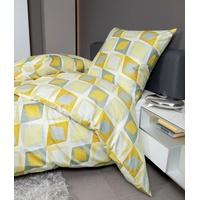ceylon gelb/weidenkätzchen 155 x 220 cm + 80 x 80 cm