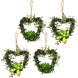 Künstliche Zimmerpflanze Mühlenbeckiaherzen Sukkulente, Creativ green, Höhe 12 cm, 4er Set