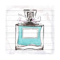 queence Holzbild Blaues Parfum, 40x40 cm
