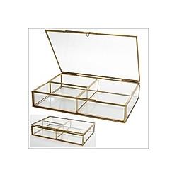 Vitrinen Echt Glas Design Natur Messing