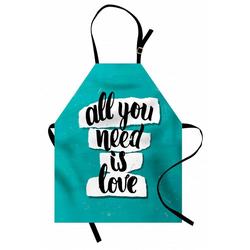 Abakuhaus Kochschürze Höhenverstellbar Klare Farben ohne verblassen, Zitat Pinsel Schriftarten Inspiration